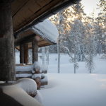 Luostakka piha talvi