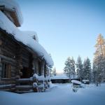 Luostakka vuokramökki Ylläkseltä talvi