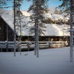 Luostakka vuokramökki Ylläkseltä talvella