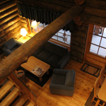 Pikku Luostakka - Olohuone parvelta